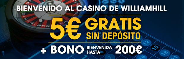 William Hill Casino: Bono sin deposito 5€