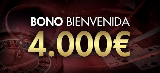 Sportium Casino: Bono de bienvenida de 4000€
